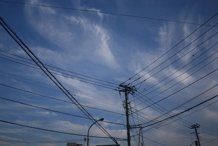Strings Sky On The Road Electric Wire
