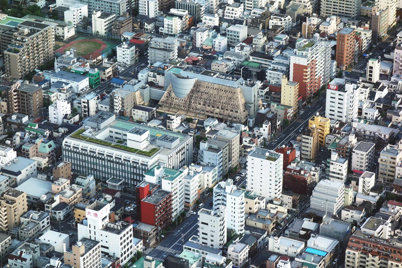 Aerial View Architecture Buildings City Cityscape High Angle View Urban