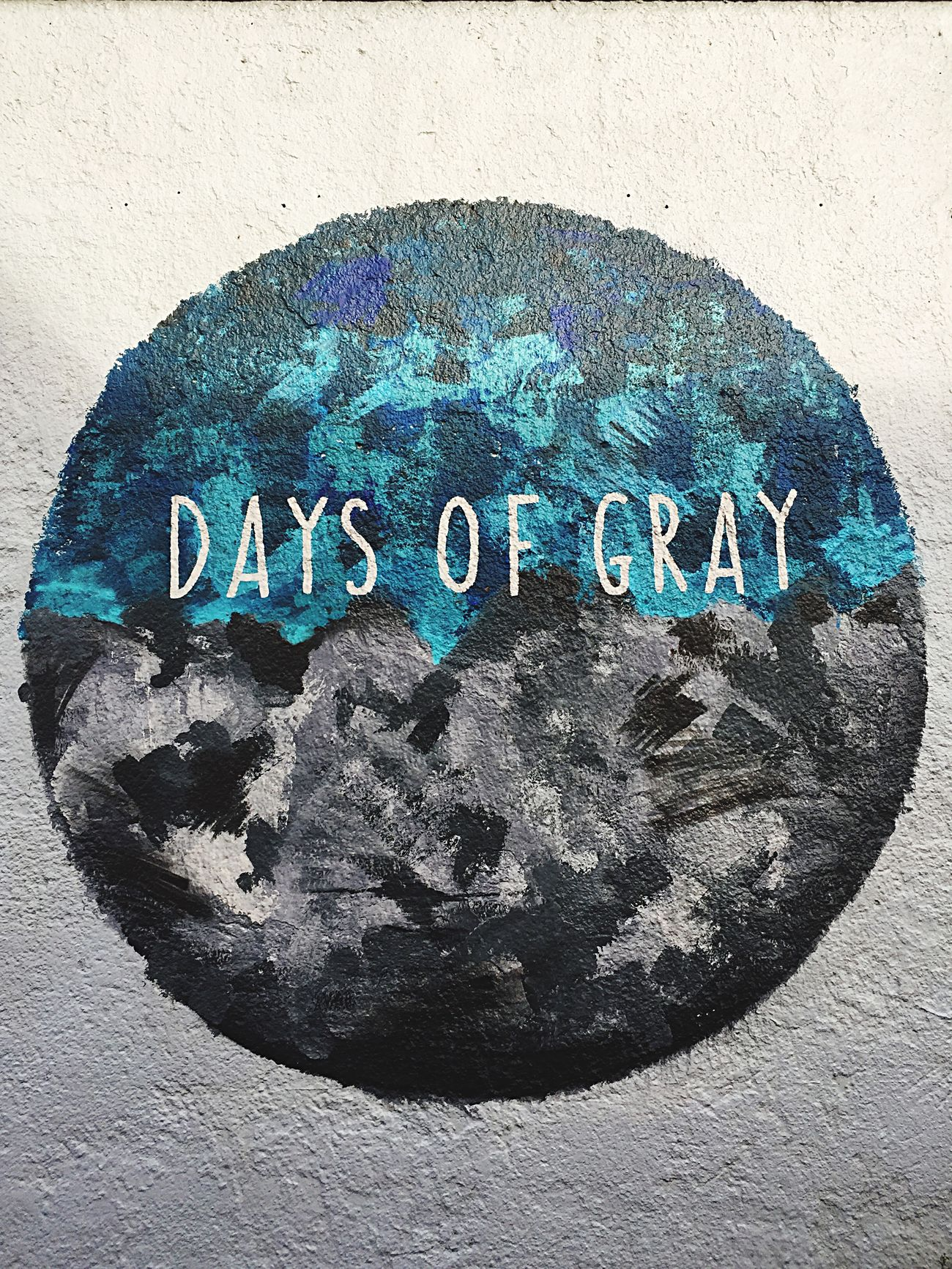 Graffiti ArtWork Days Of Grey World Planet Wall