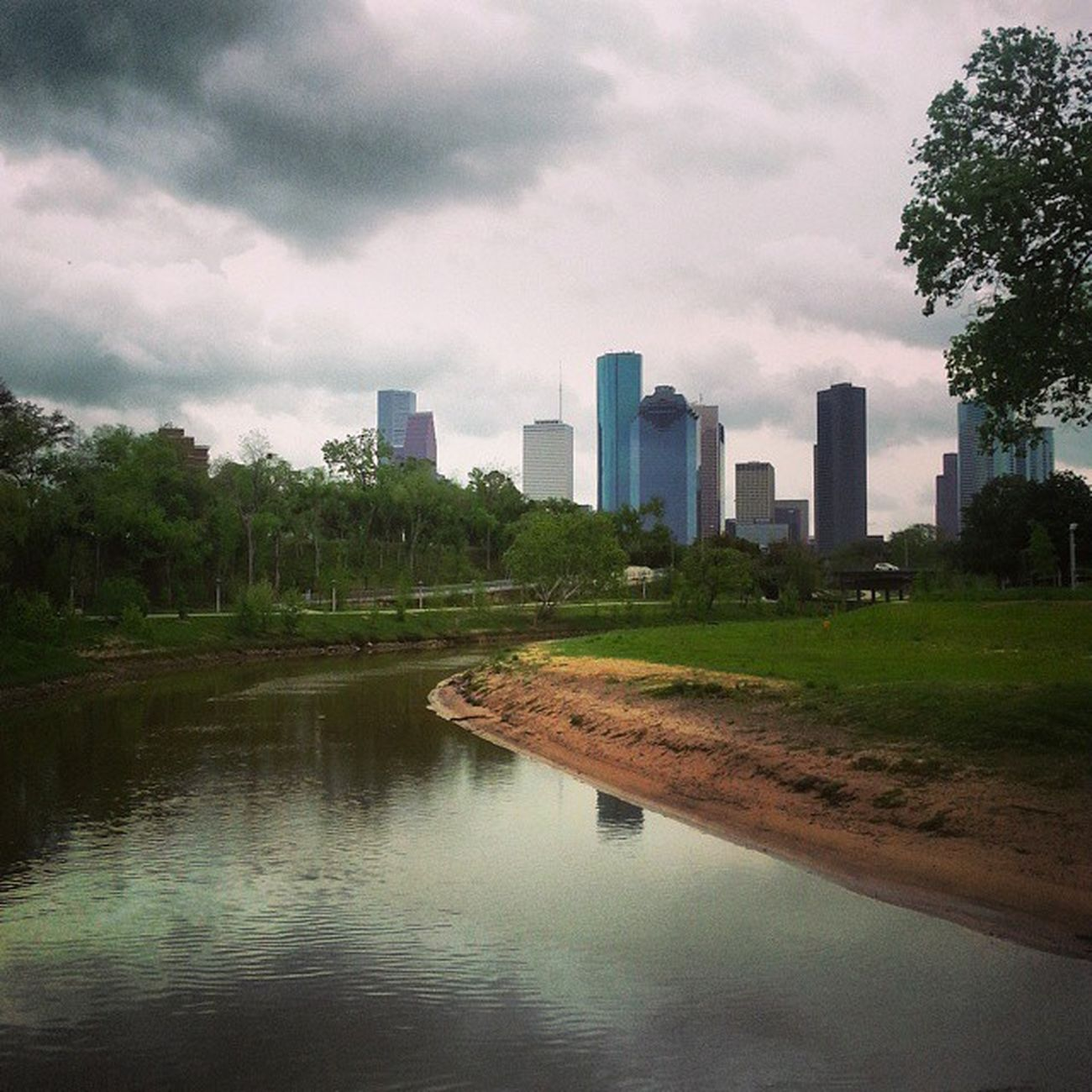BuffaloBayouTrail Houston Park Texas Skyline Nature Spring HoustonTX