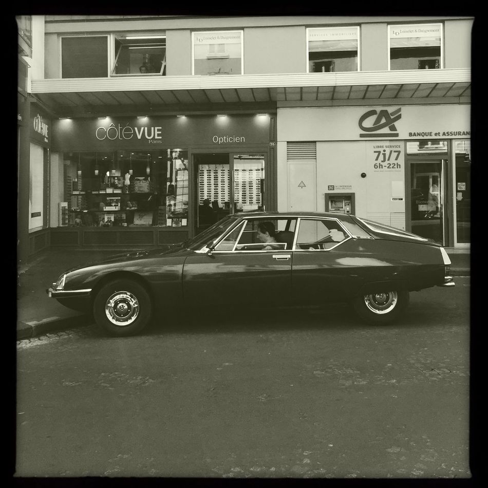 Car Black & White IPhoneography Carspotting Citroen SM Hipstamatic Vintage Cars