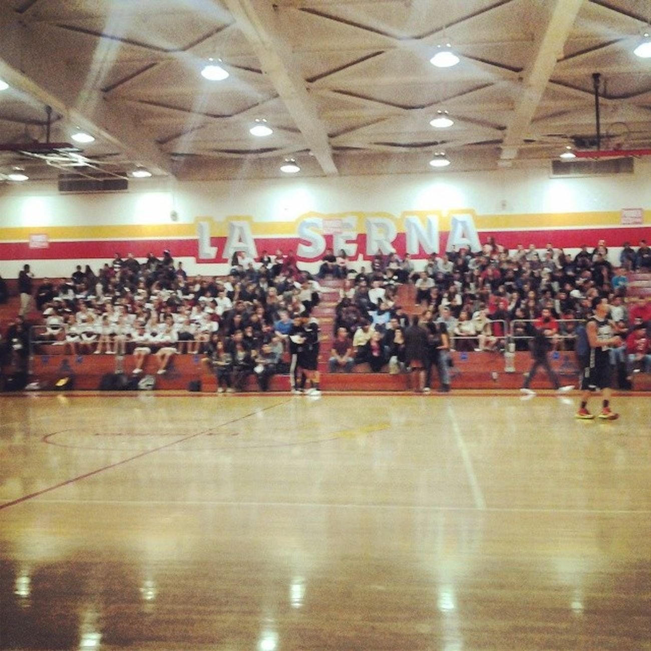 Blew it up! Power106 TheLasernaHigh StudentBody Jammed  Packed WitgMyBoy @jd_sportstherapy