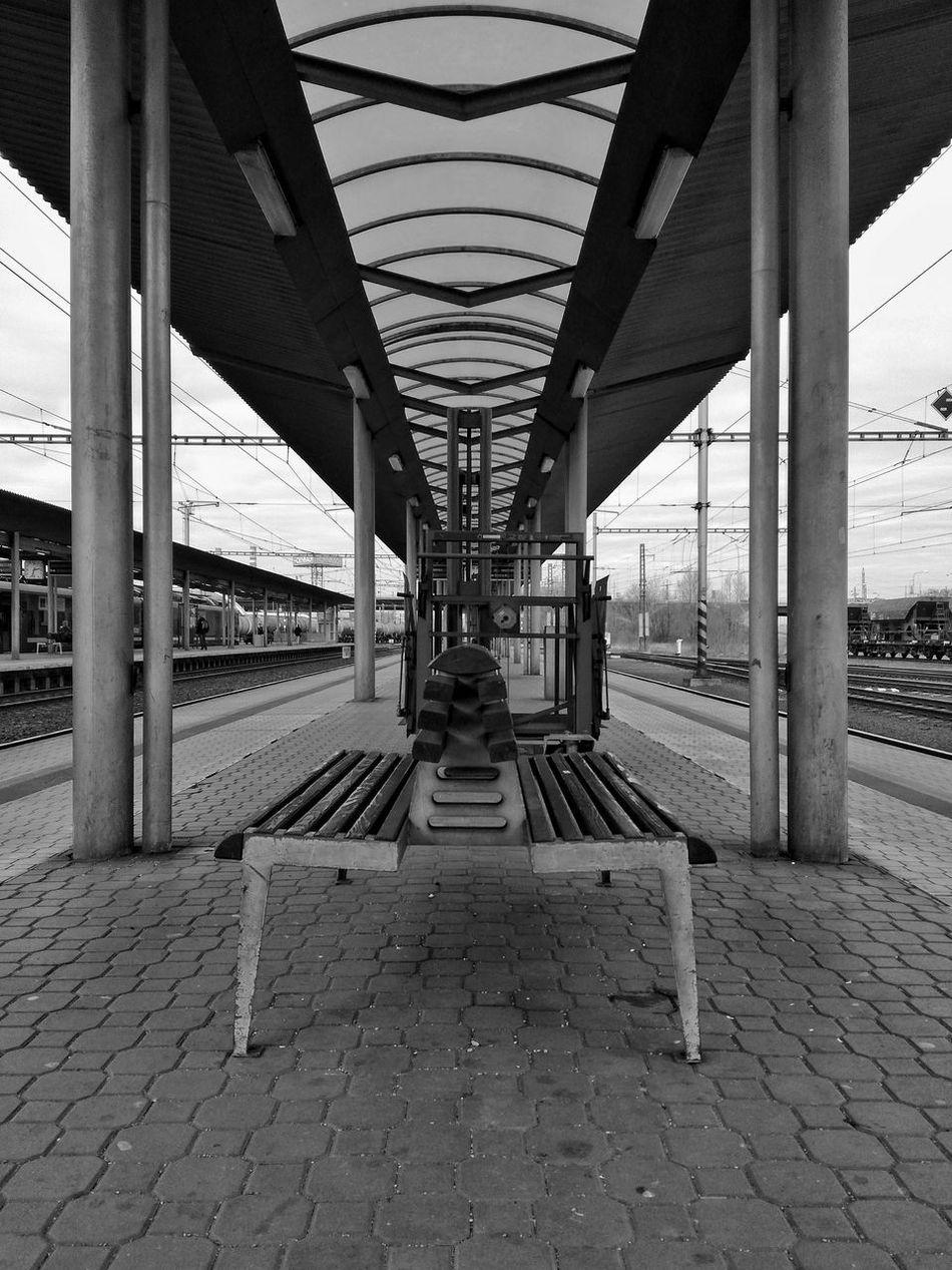 Bridge - Man Made Structure Outdoors Day Architecture No People Street Blackandwhite Nopeople Train Station Train Station Platform Transport Czech Republic Cz Czech Days Czech Republic🇨🇿