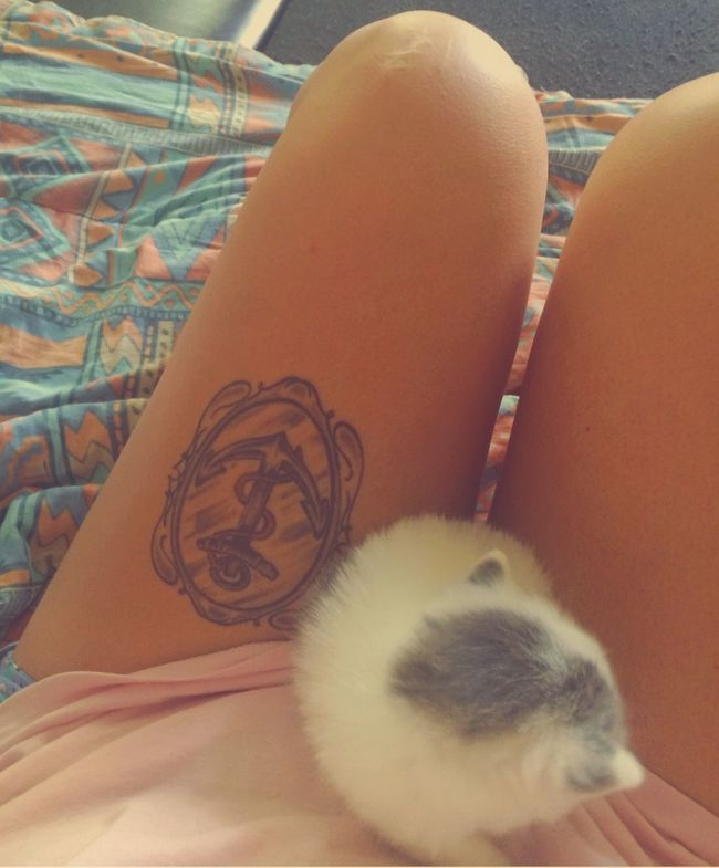 Hello World Kitten Tattoo Love