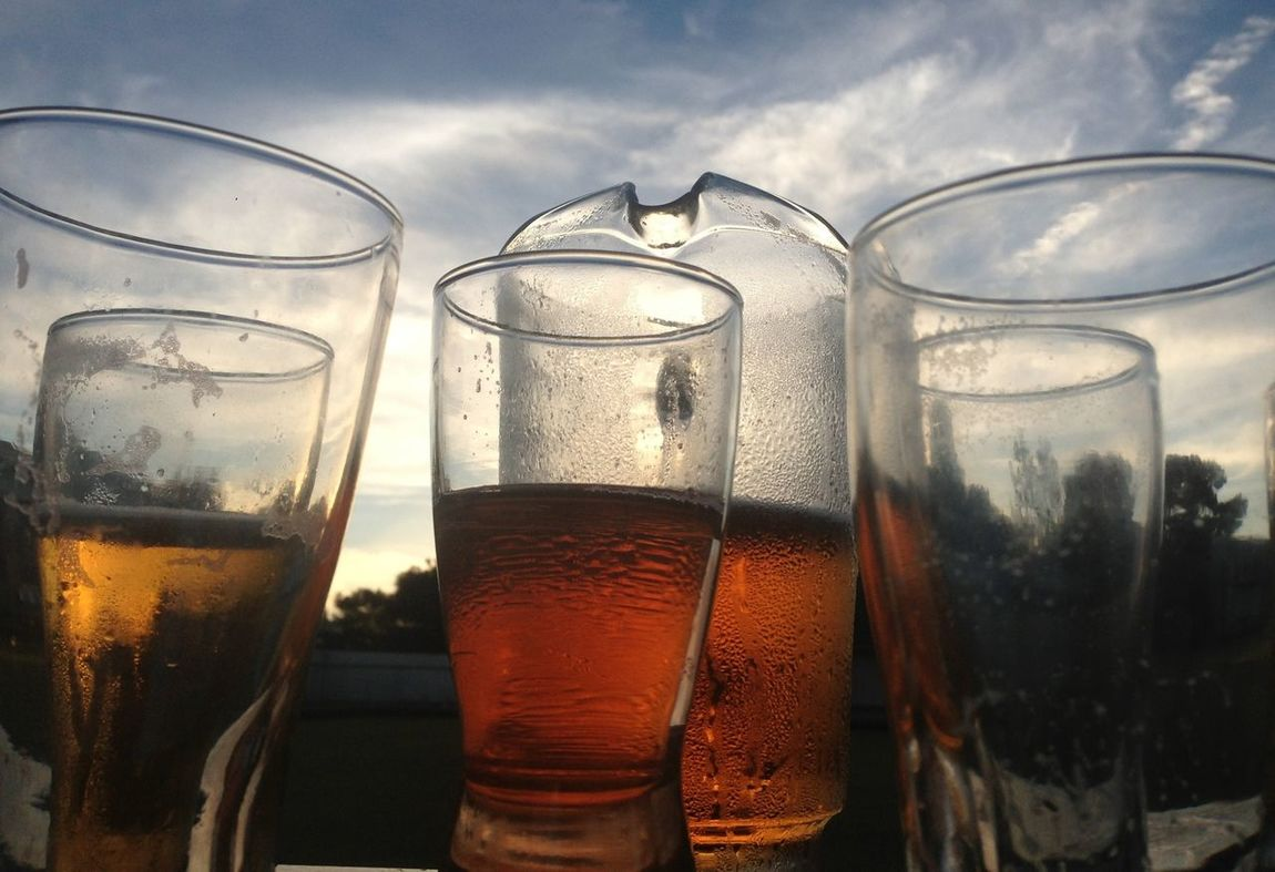 Beer In My Mouf Having Fun Eye4photography  Beer Jug Outdoors No People Sky Arts Culture And Entertainment BowlsClub