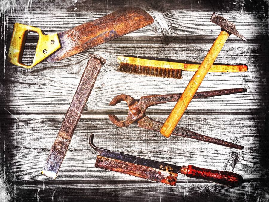 My late father in law's toolbox. IPhoneography