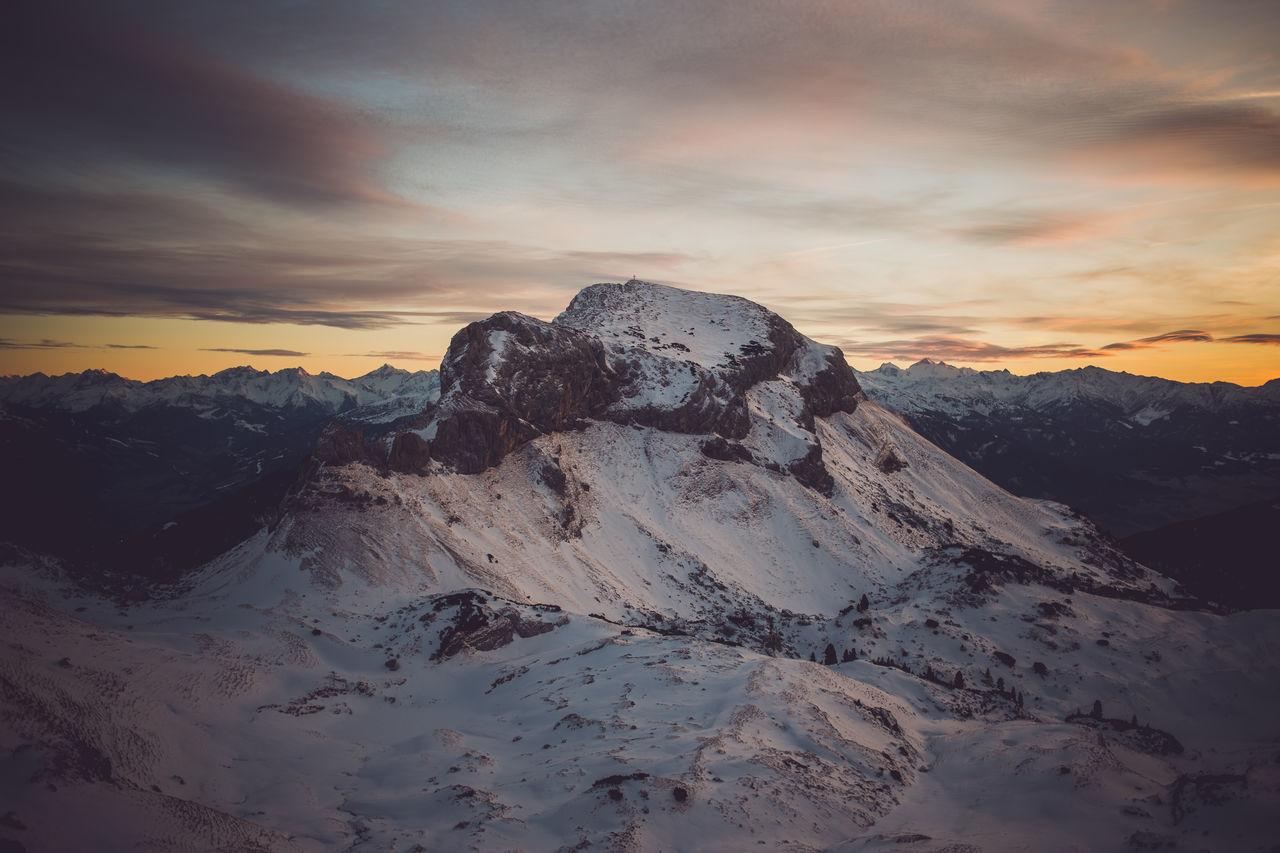 magic winter wonderland Achensee Alps Austria Climbing Cloud - Sky Cold Temperature Dramatic Sky Hiking Landscape Mountain Mountain Peak Mountain Range Mountaineering Nature No People Outdoors Sky Snow Sunset