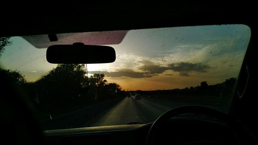 Mode Of Transport Road Travel Car Interior Driving No People The Way Forward Natural Disaster Cloud - Sky Summer