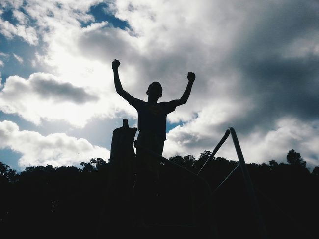 Time to Celebrate :) I passed this semester's unit of study and the kids have had an awesome week at our church's holiday programme. The Moment - 2015 EyeEm Awards The Great Outdoors - 2015 EyeEm Awards Vscocam Silhouette Clouds And Sky That's My Boy Capturing Freedom