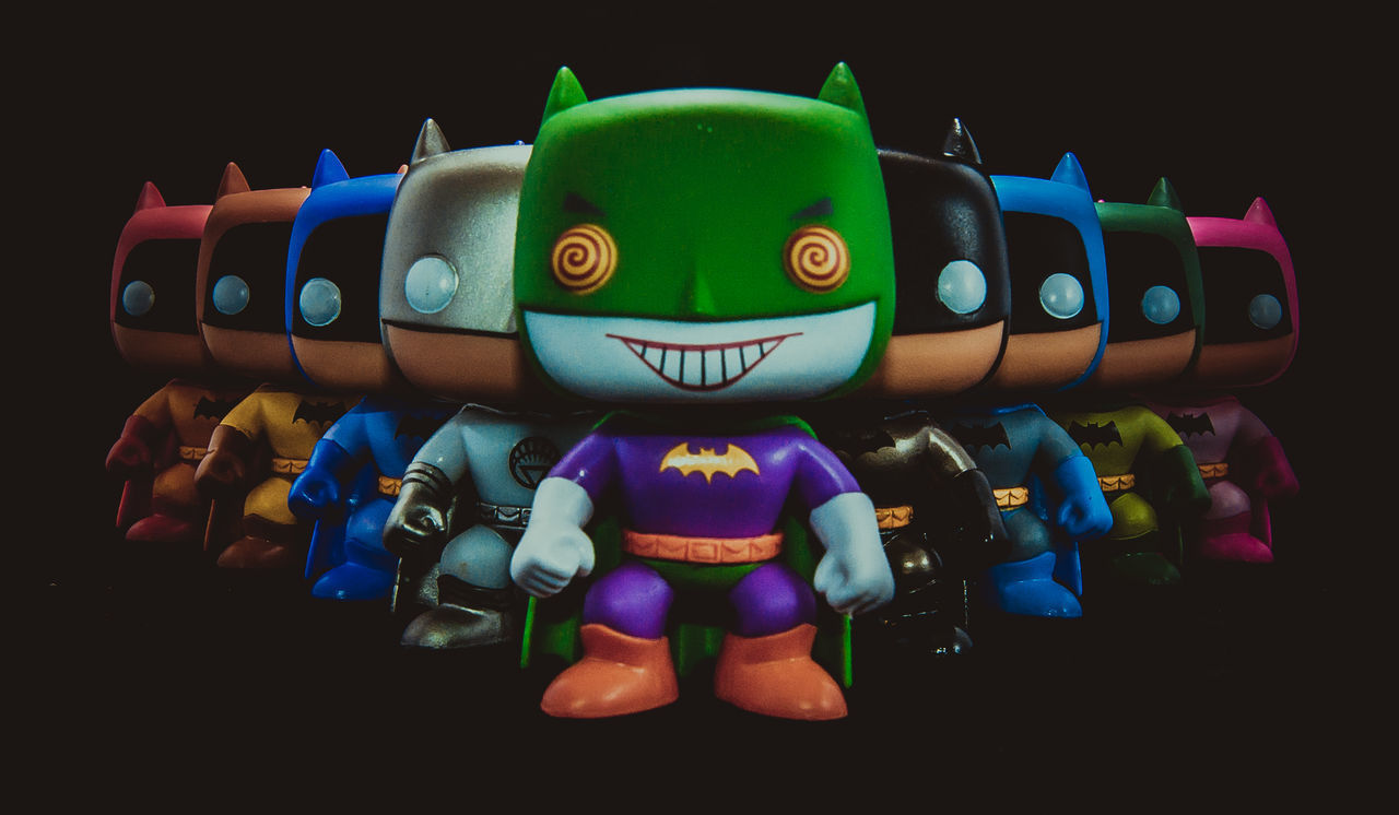 Batman Childhood Close-up Clown Day Doll Funko Human Representation Indoors  Large Group Of Objects Multi Colored No People Toy BYOPaper! EyeEmNewHere