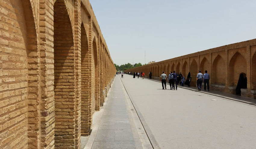 Architecture Attraktion Historical Sights Historische Plätze Iran Isfahan Siosepol Siosepolbridge Tourist Attraction