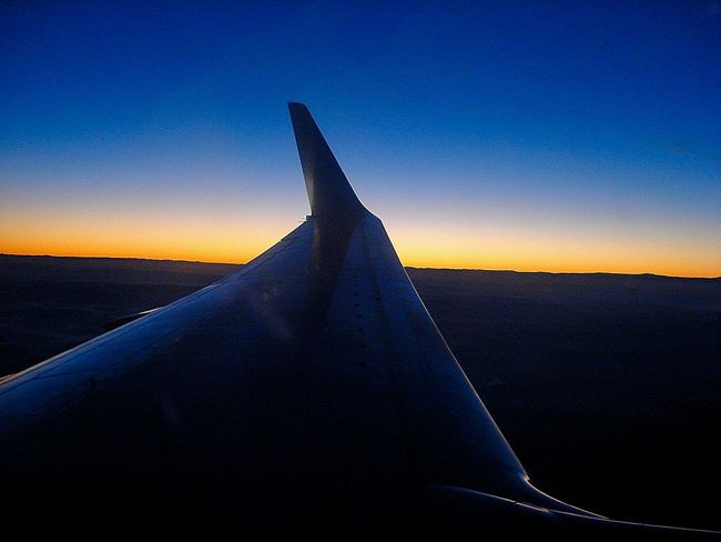 From The Plane Window Sky Plane Sunset Sunrise Beautiful Colors Quiet Oujda Morocco From A Plane Window Cobalt Blue By Motorola