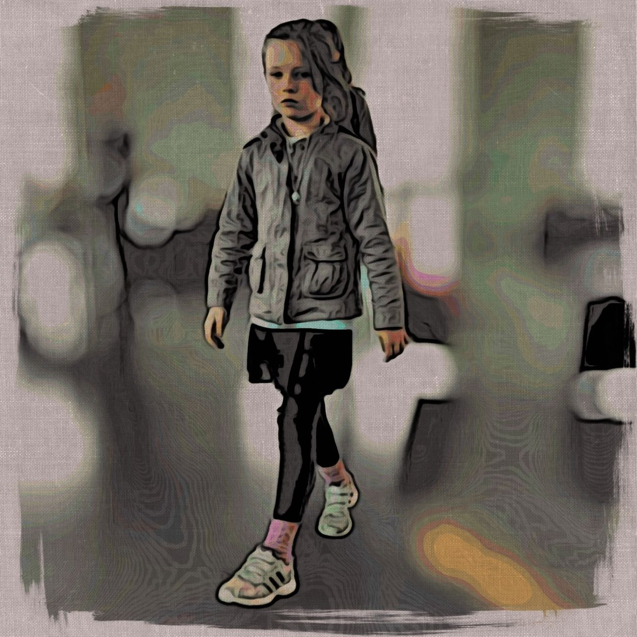 Kids IPhoneography At The Airport Innocence Of Youth
