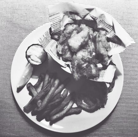 Homemade Fishandchips in Black And White - Yummi
