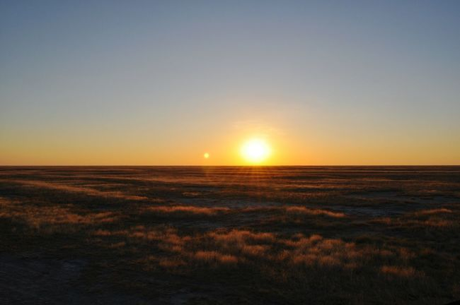 Sunset Pure Nature Nature No People Sunlight Sun Going Down Desert Botswana Outdoors Camping Strong Light Passion African Sunset African Sun Horizon Tranquility Tranquil Scene Beautiful Nature Colors Of Nature