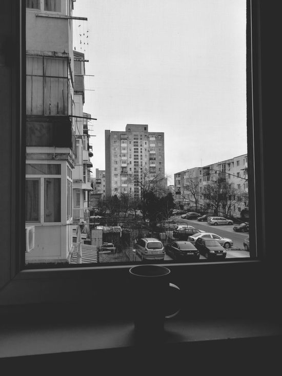 When you have Nothingtophotograph Stayinghome Chilling Chillmood Cold Winter ❄⛄ Cold Outside ❄⛄  Building Exterior Building Balconies Neighborhood Mug Cup Coffe Coffee Cup Coffee Break Relaxing Holiday Blackandwhite Blackandwhite Photography Home Adapted To The City