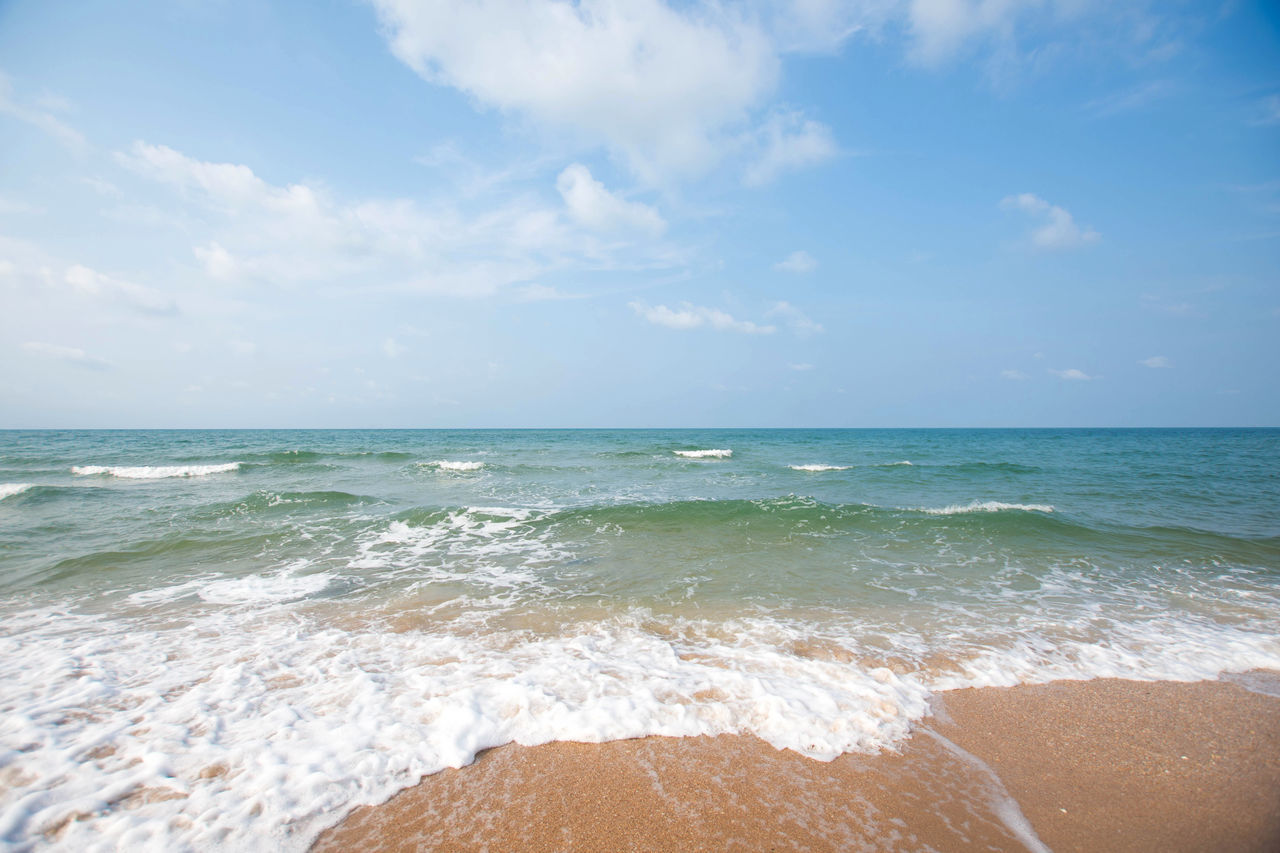 sea, horizon over water, beauty in nature, beach, water, sky, nature, scenics, sand, wave, tranquility, day, outdoors, tranquil scene, no people