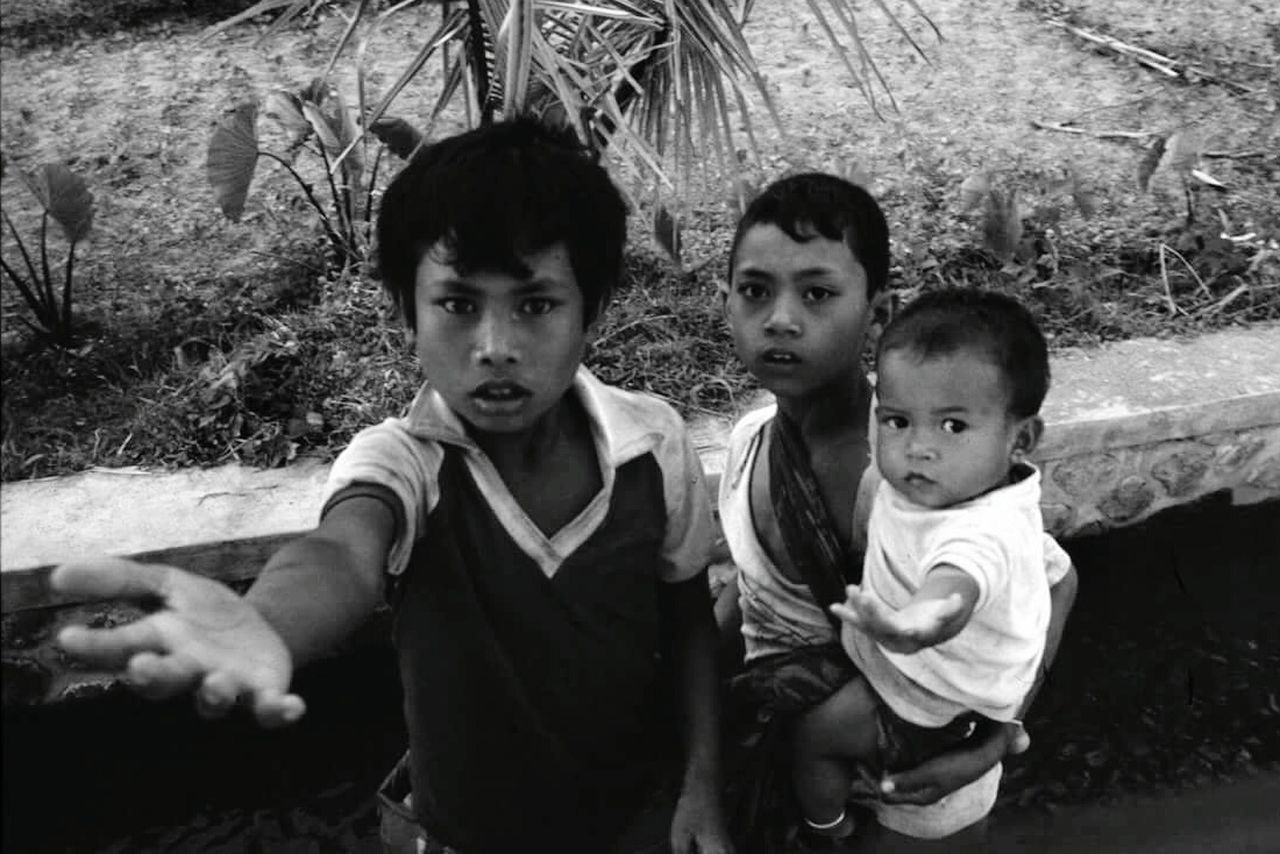 boys, childhood, looking at camera, portrait, real people, outdoors, day, young adult, togetherness, adult, people
