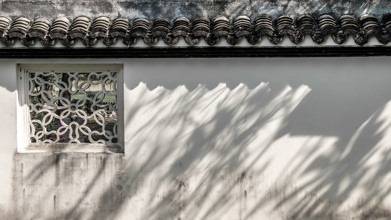 China wall style in the sun light. Architecture Chaina Chainess Wall Chiness Style Concrete Wall Day Light And Shadow Wall