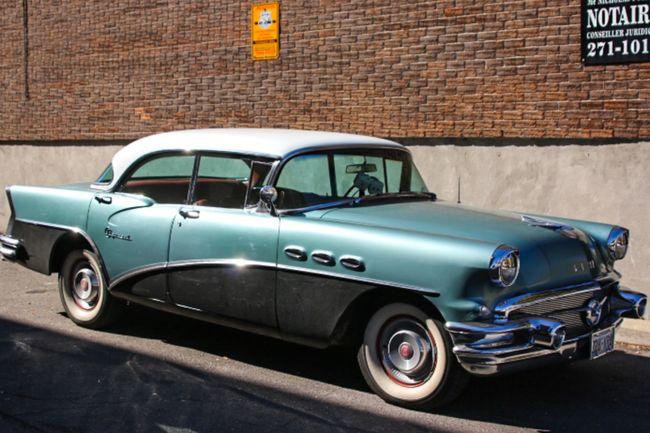 50s Buick Car Montréal Oldcar Vieillevoiture Voiture Voiture Retro