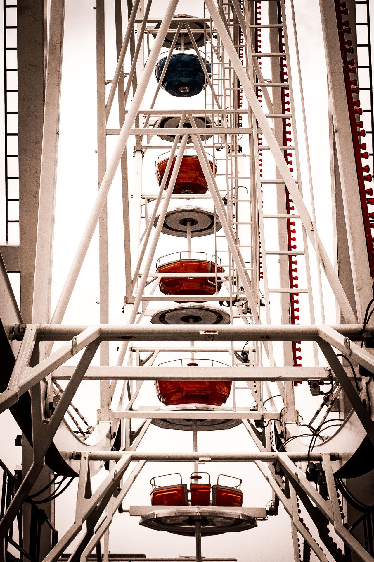 Amusement Park Architecture Big Wheel Built Structure Day Ferris Wheel Fun Fair Fun Fair Ride Industry Kermis Low Angle View Modern No People Technology