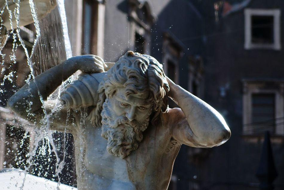 Fontana Amenano Catania, Sicily Acqua Statua Cornucopia