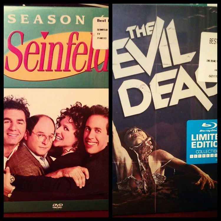 Seinfeld season 4 and the Evildead Steelbook edition. Horrorhound cultflicks