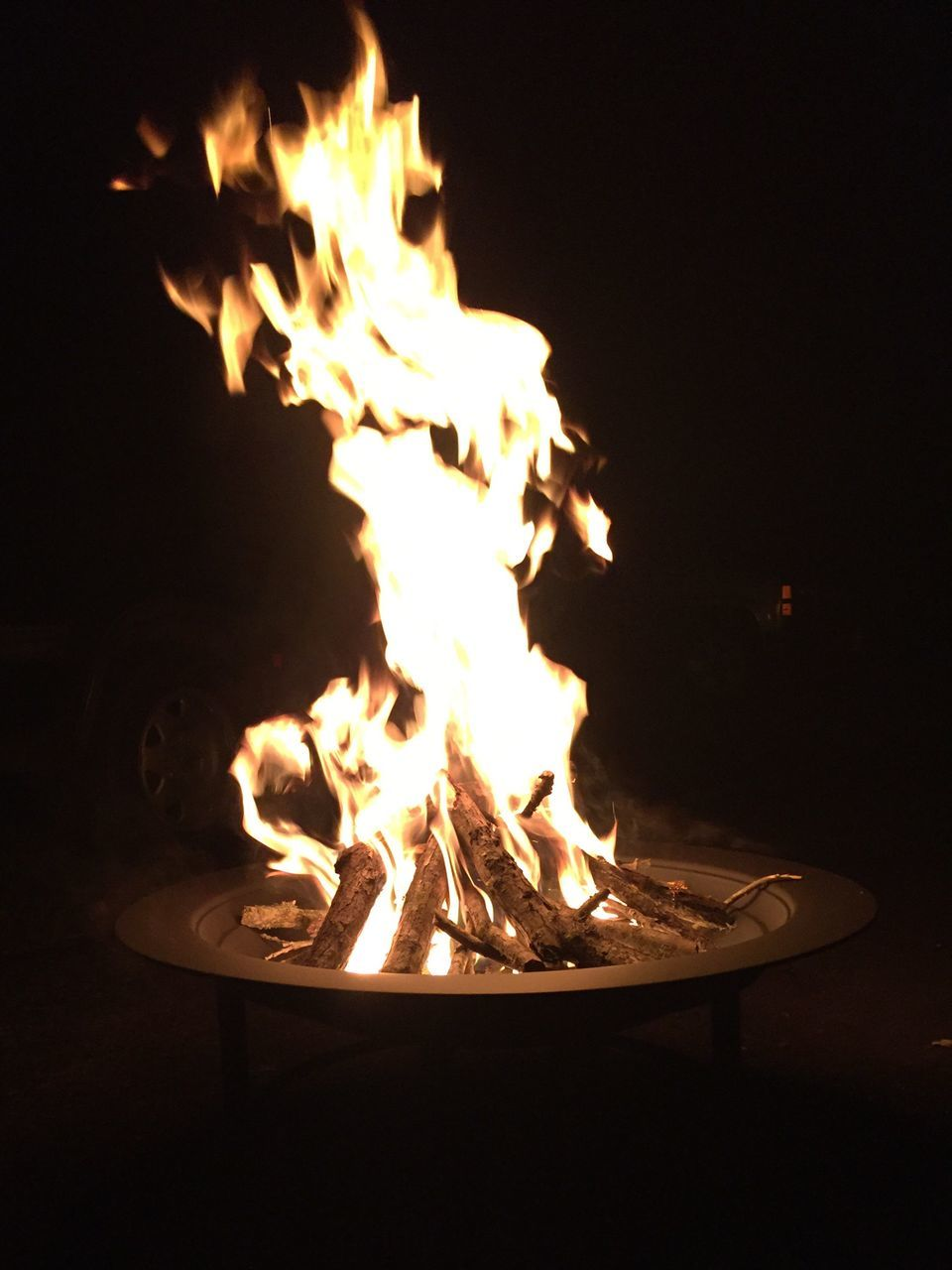 flame, burning, heat - temperature, no people, night, close-up, bonfire, fire pit, illuminated, outdoors