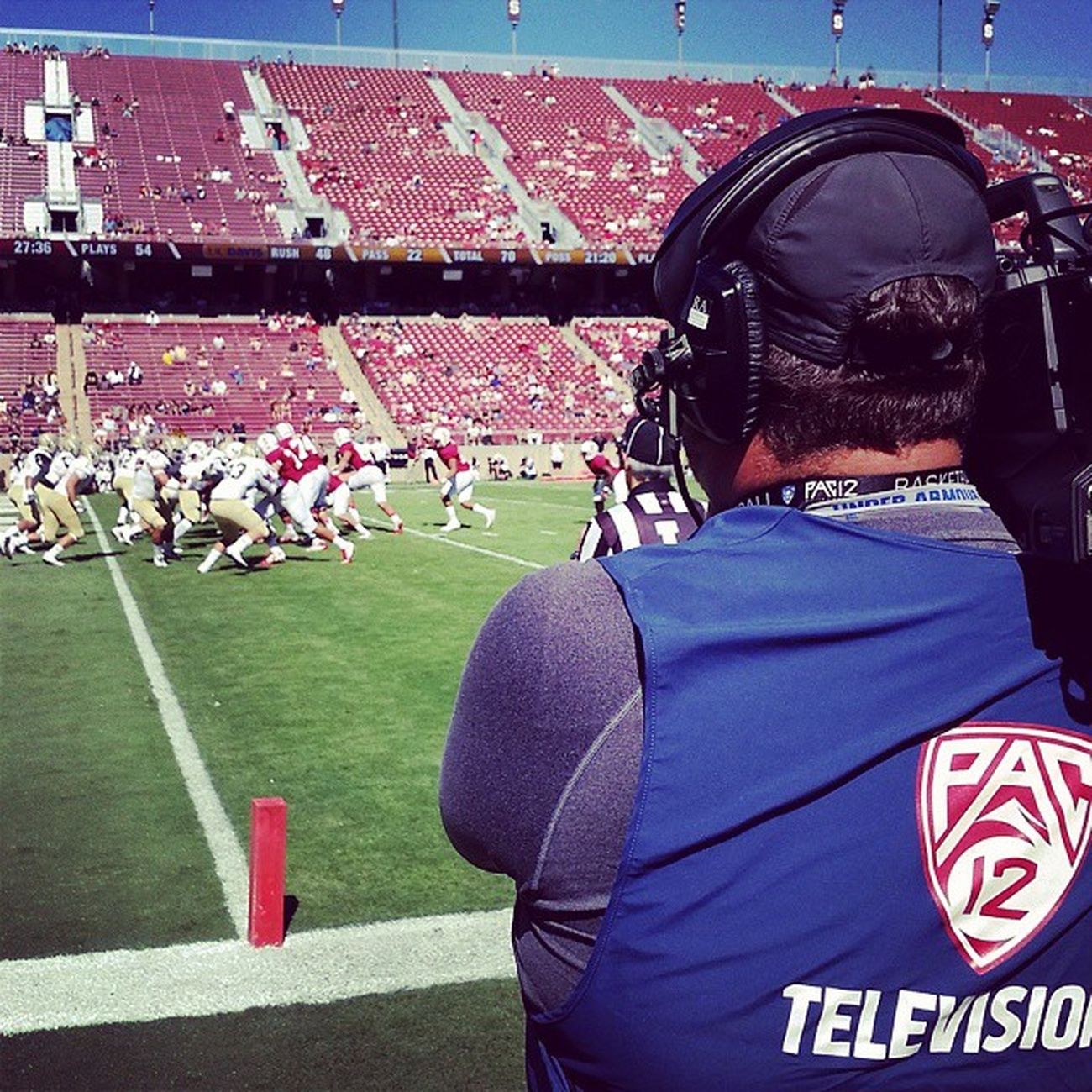 My good friend @andytelevision bustin it making great shots today College Football Week1 pt.2 Stanford