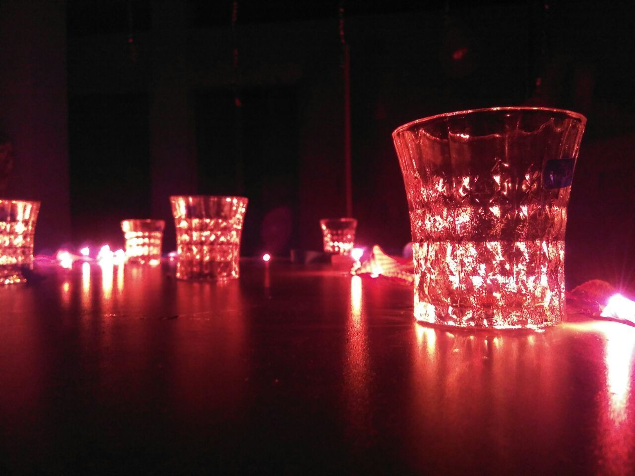 Red Reflection Drinking Glass Shot Glass Alcohol Martini Glass Night Water Indoors  Drink No People Red Lights Redlightspecial Wonder Love