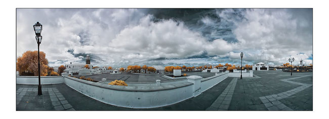 Canon400d Fun Infrared Infrared Photography Landscape Lanzarote Panorama Photoshop Teguise Travelling