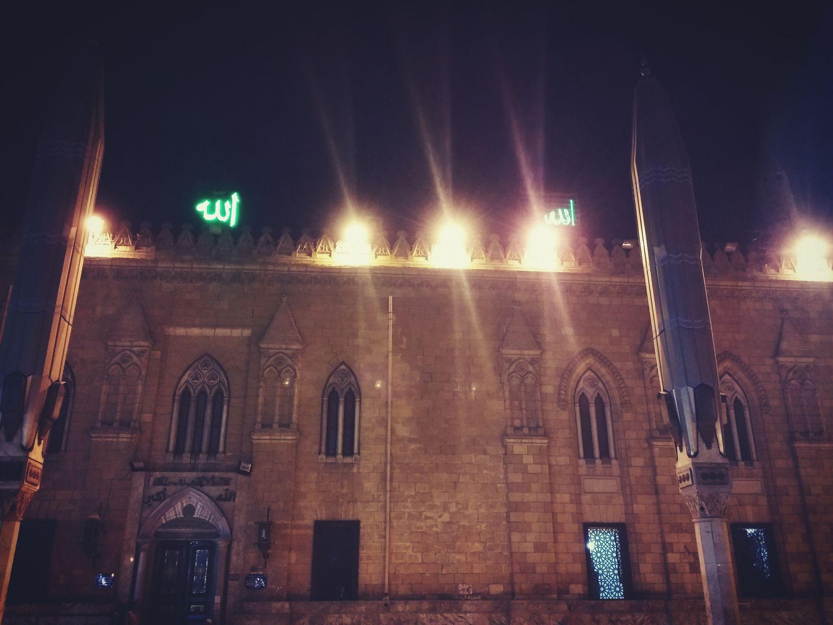 Al-hussain - cairo,Egypt Night No People Architecture Cairo Egypt Outdoors Architecture Sky Window Hussain Mosque