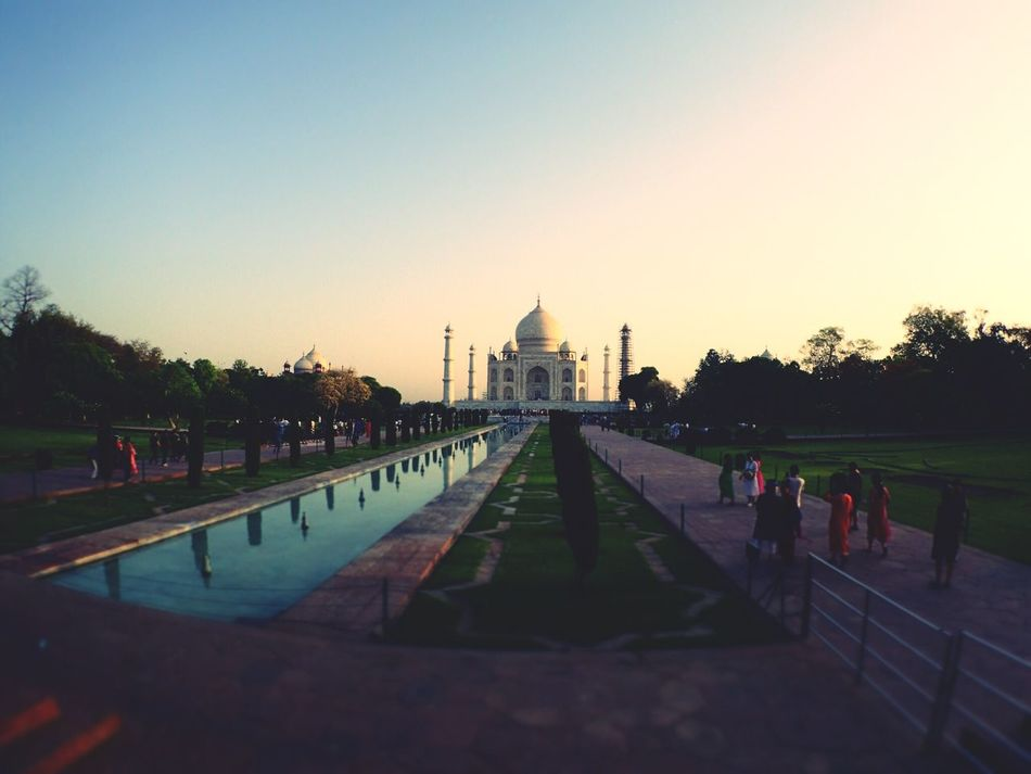Built Structure Religion Architecture Place Of Worship Spirituality Clear Sky Building Exterior Travel Destinations Hello World Large Group Of People Real People Sky Water Outdoors Tree Reflecting Pool Sunset Day People