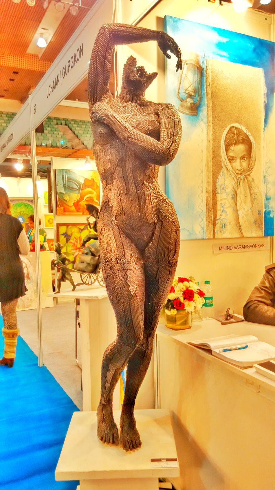 Statue Sculpture Metalart Portrait Of A Woman Art In Search Of Incredible From My Point Of View Full Length Uniqueness