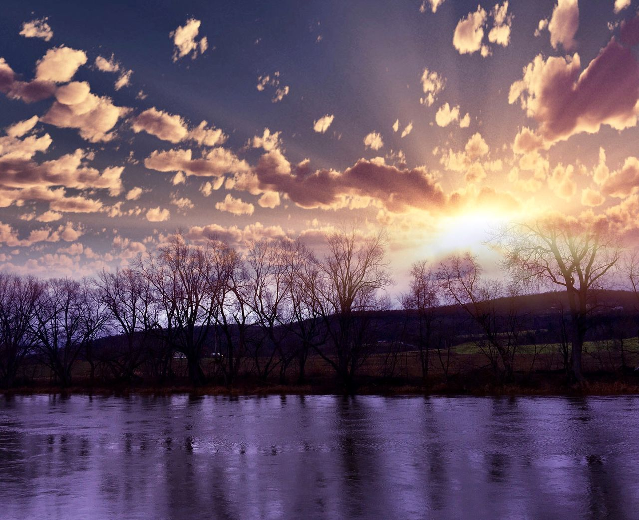 Nature Water Beauty In Nature Sunset Reflection Sky Lake Scenics Bare Tree Tranquility Outdoors Waterfront Tree Tranquil Scene Astronomy