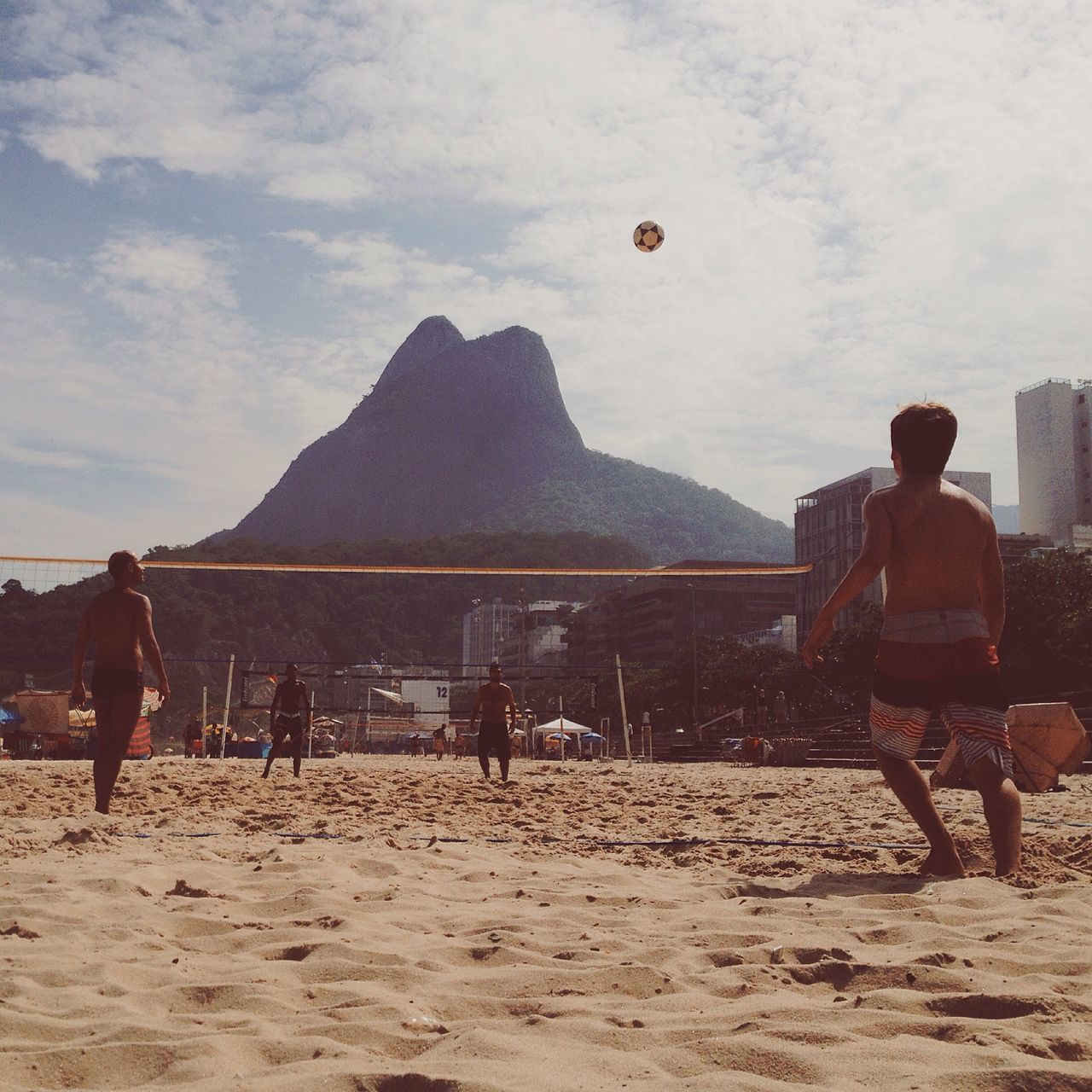 Beach Soccervolley Adapted To The City Adult Adults Only Beach Beauty In Nature Brazil Cloud - Sky Day Leisure Activity Lifestyles Men Mountain Nature One Man Only One Person Only Men Outdoors People Real People Rio De Janeiro Sand Scenics Sky Sport Young Adult