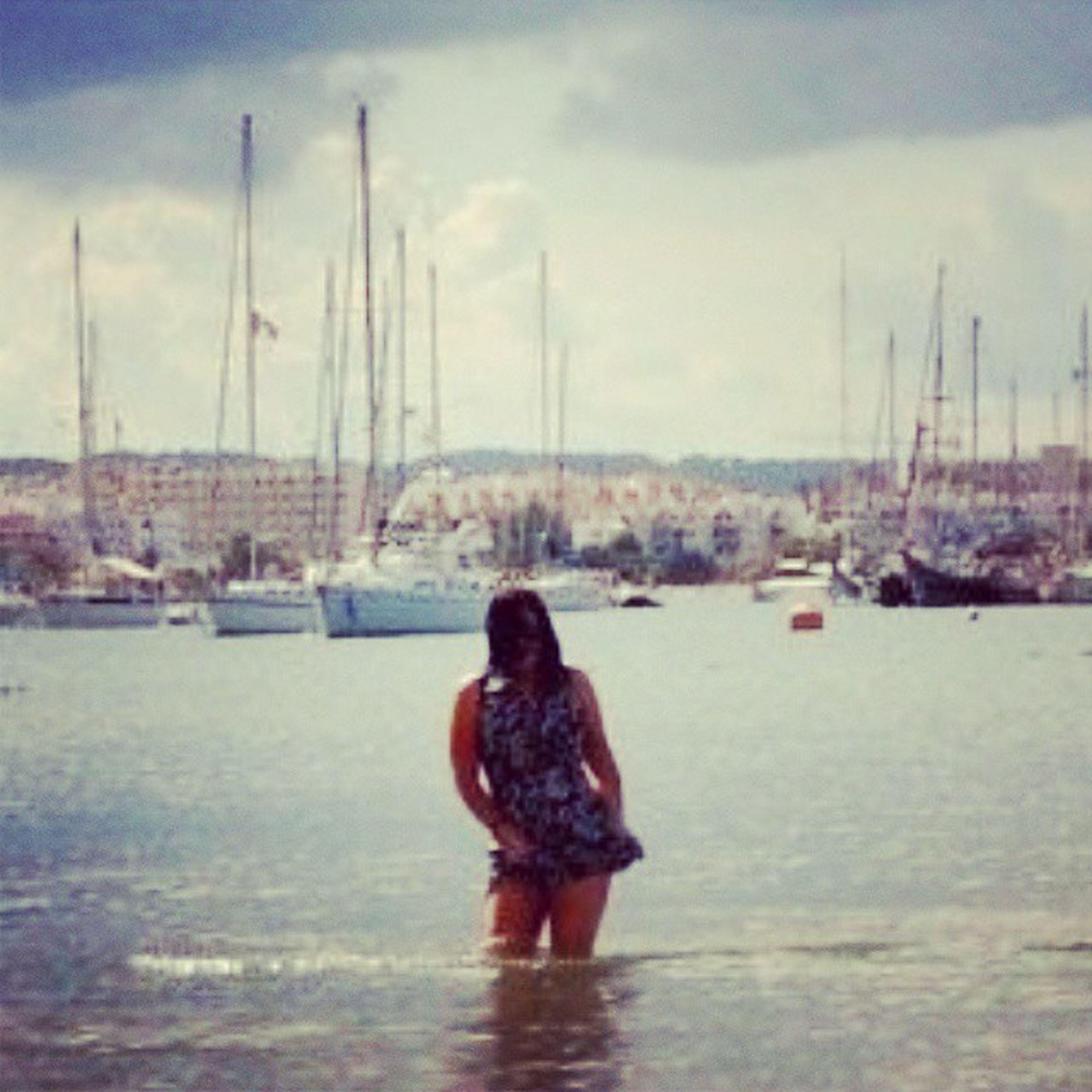 One cloudy day in Ibiza Sanantoniobay Swimminginclothes ☁??