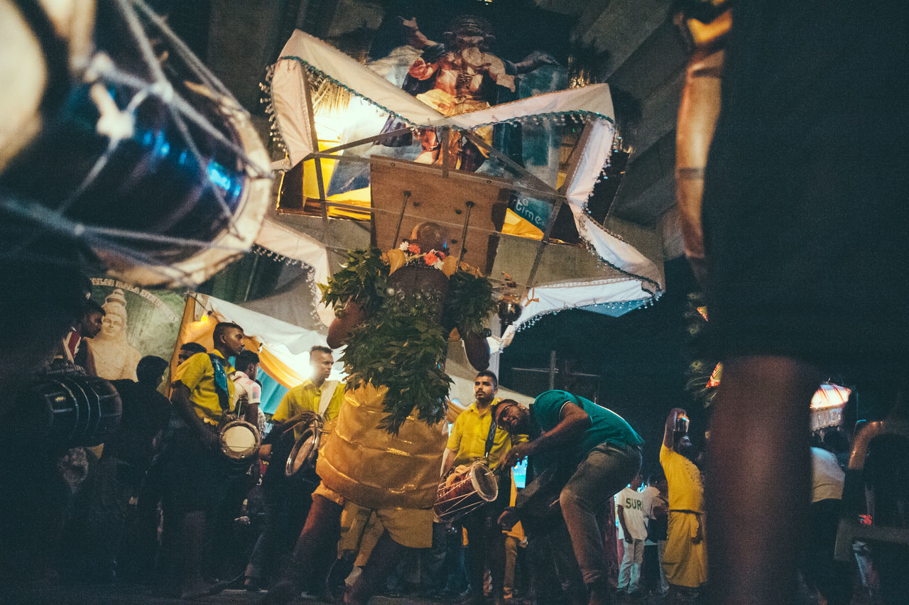 City City Life Hinduism Illuminated Kavadi Leisure Activity Lifestyles Multi Colored Night Religion Religious  Thaipusam Thaipusam2016 The Photojournalist - 2016 EyeEm Awards