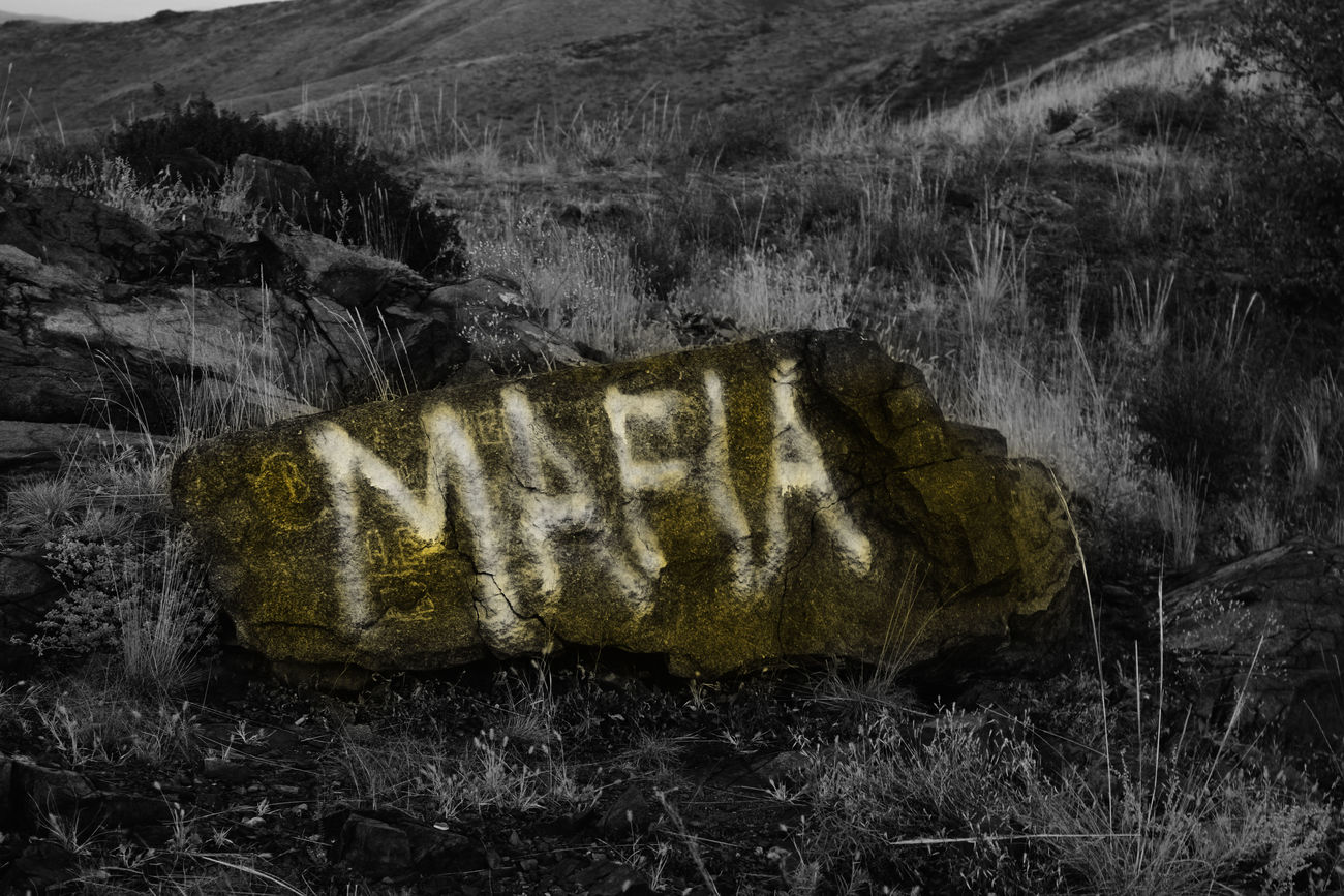 No People Text Close-up Outdoors Day Stone Beauty In Nature B/w Yellow Plant Tree White Light Mafia  Texture Mountain