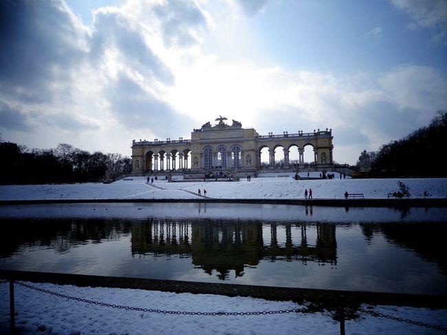 Vienna, Austria. Reflection Water Architecture Lake Cloud - Sky Built Structure Travel Destinations Outdoors EyeEmNewHere at Schonbrunn Palace Vienna Austria