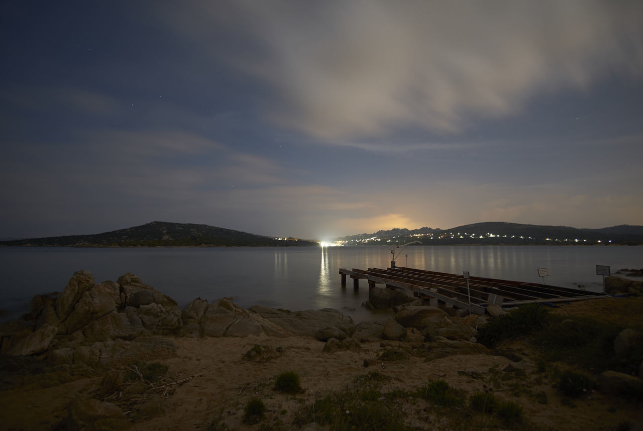 Beauty In Nature Cat Dock Italy Long Exposure Nature Nightphotography Peaceful Quiet Sardinia Sardinia,italy Silky Clouds Silky Water Tranquility Water Waterfront