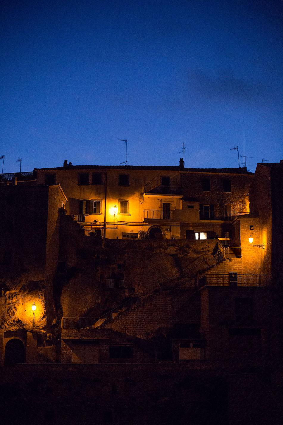 Darkness And Light Illuminated Kontraste Low Lights No People Old Buildings Streetlights Sundown Toskana,italy Overnight Success