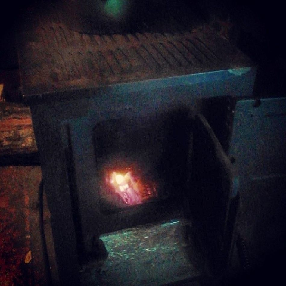 I am awesome I built a Fire in the inside stove its cold as all get out in Missouri . 35° and just started Sleeting sleet outside its cold so use both stoves 8)