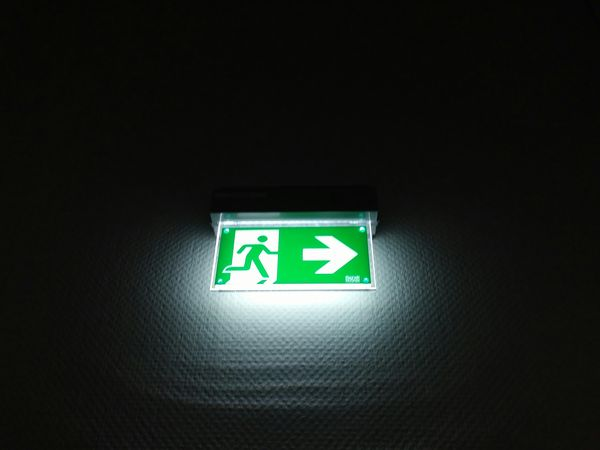 Exit Sign Green Color Emergency Exit Illuminated Close-up No People Black Background Indoors  Followme Sony A6000 Night Sonyalpha Like4like Likeforlike Shadows & Lights Follow4follow Like4likes Likeforfollow Like Sony Backgrounds Black Background Dark Likes