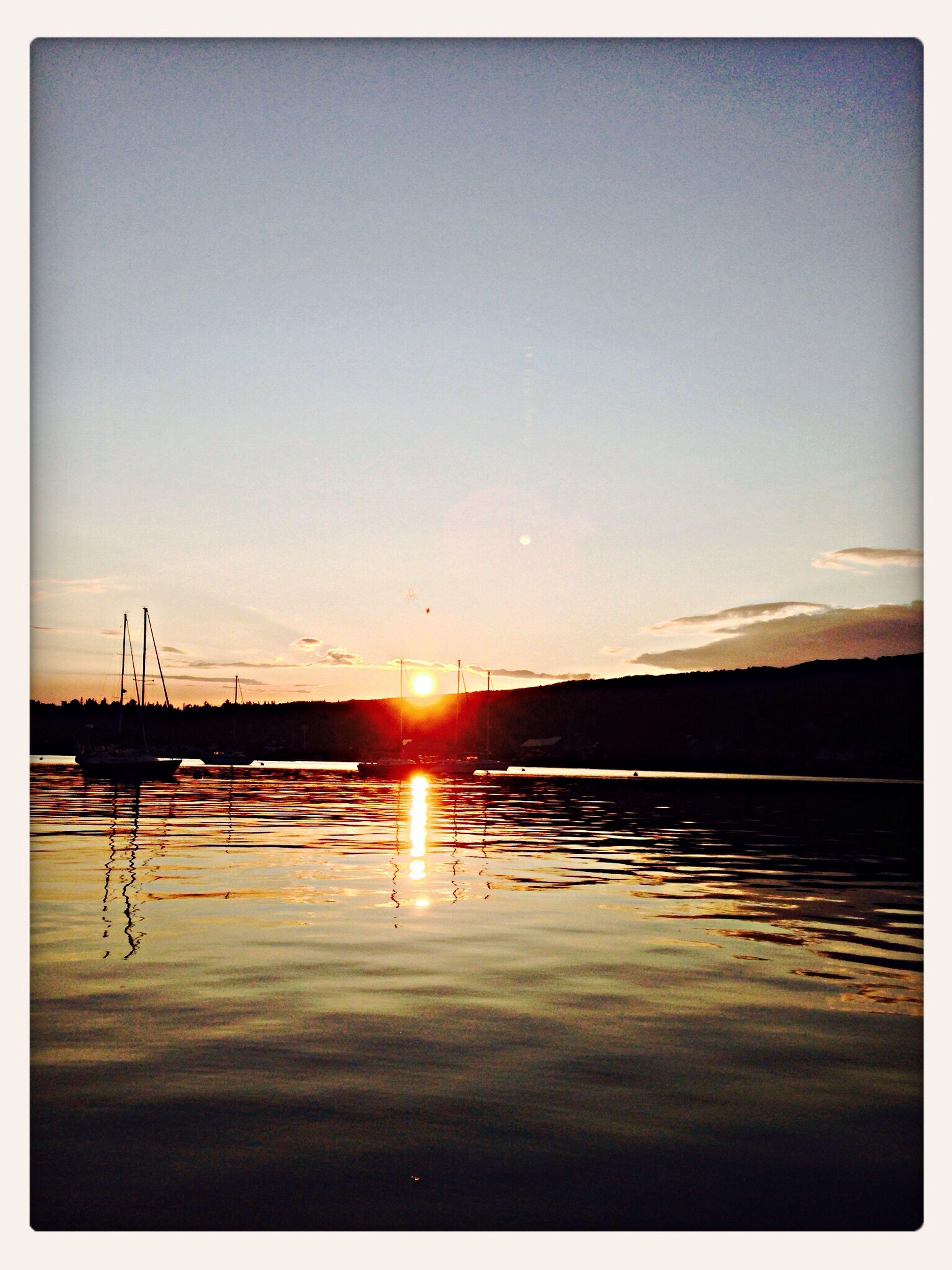Sunset on the lake ☀️ Enjoying The Sun Sunshine Grand Marais