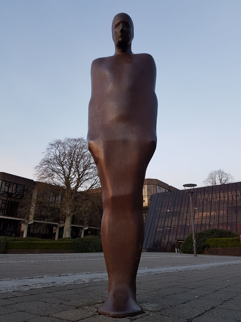 shirtless, statue, men, built structure, sculpture, building exterior, architecture, outdoors, clear sky, day, one person, standing, sky, young adult, people