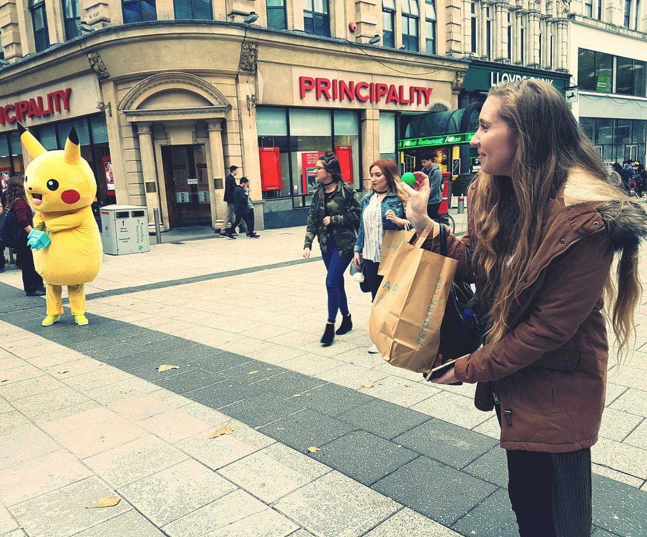 People City Walking Day Cardiff City Pokémon Pokemon Go Pikachu I Choose You