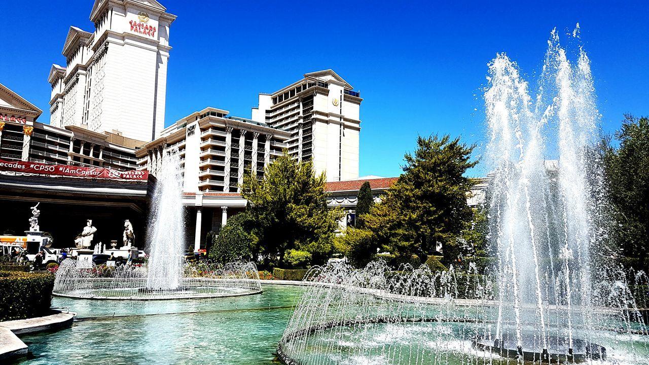 City Fountain Building Exterior Las Vegas Caesarspalace Caesars Palace