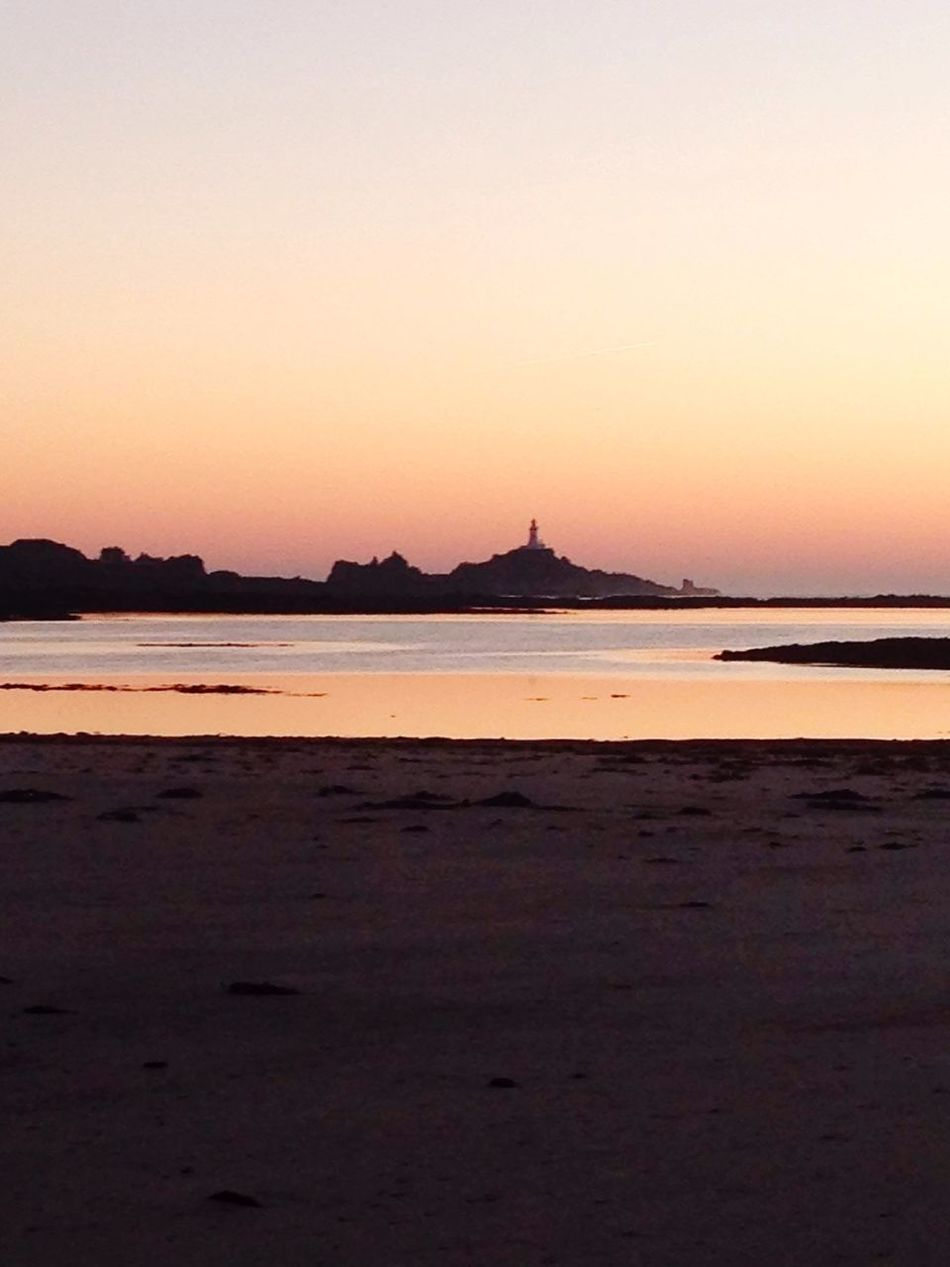 Sunset over Corbiere lighthouse Sunset Sea lighthouse