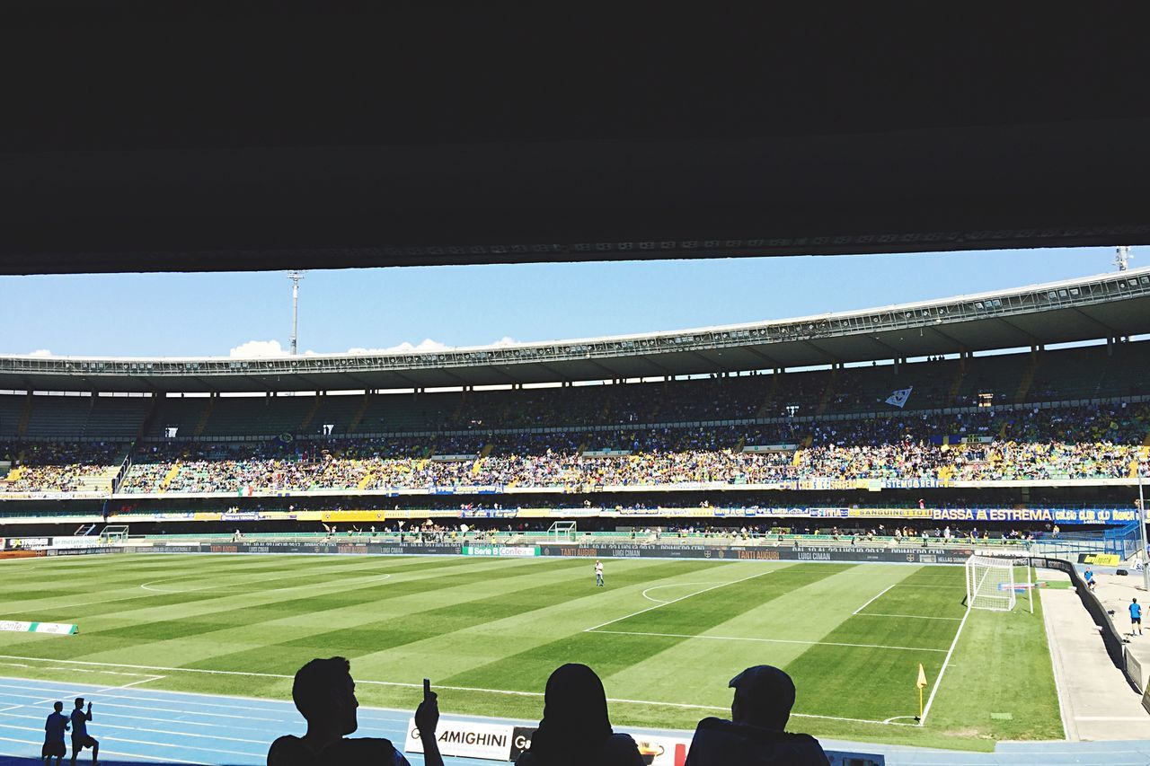 Stadium Spectator Sport Soccer Crowd Large Group Of People Fan - Enthusiast Event Outdoors Real People Men Soccer Field Audience Sports Team Day Watching Grass Playing Field Competitive Sport People Sports Event  Verona Italy Panoramic Hellas_verona Hellas